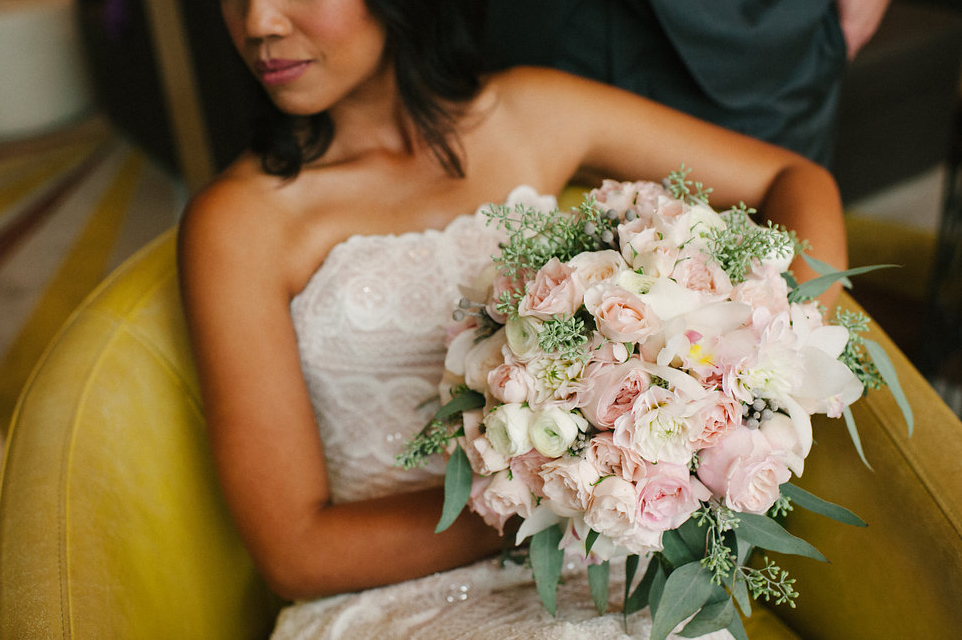 pale pink bridal bouquet